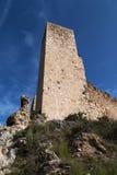 Tourelle de château de Miravet Photos libres de droits