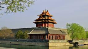 Tourelle de Cité interdite, Pékin, Chine Photographie stock