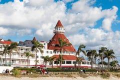 Tourelle de Del Coronado With Signature Red d'hôtel Photographie stock libre de droits
