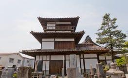 Tourelle de Gosangai de château d'Aizu-Wakamatsu dans le temple d'Amida-JI, Jap Image libre de droits