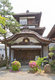 Tourelle de Gosangai de château d'Aizu-Wakamatsu dans le temple d'Amida-JI, Jap Photographie stock