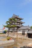 Tourelle de Kitanomaru Tsukimi (1676) de château de Takamatsu, Japon Image stock