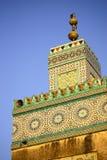 Tourelle de mosquée, Maroc Photos stock