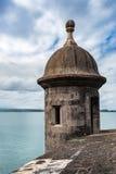 Tourelle de tour de Castillo San Felipe del Morro Photographie stock libre de droits