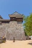 Tourelle faisante le coin de château de Matsuyama, Japon photographie stock libre de droits