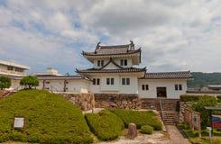 Tourelle faisante le coin de château de Tanabe dans Maizuru, Japon photo libre de droits