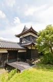 Tourelle faisante le coin est de château de Yamato Koriyama, Japon images libres de droits