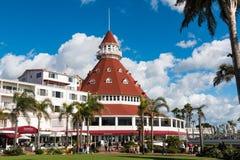 Tourelle rouge de signature d'hôtel Del Coronado Photos libres de droits