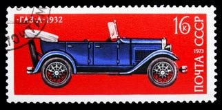 Tourer GAZ-A (1932), historia av sovjetisk serie för motorbransch, circa 1973 fotografering för bildbyråer