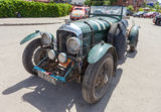 Tourer retro del ½ de Bentley 4 del coche 1929 años Fotos de archivo