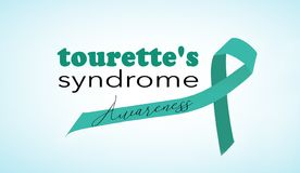 Tourette`s syndrome awareness. Background with ribbon vector illustration