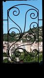 Tourette sur loup in South of France. View out of bedroom Royalty Free Stock Image