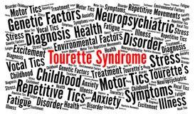 Tourette-Syndrom-Wortwolke Lizenzfreies Stockbild