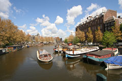Touring Amsterdam Stock Image