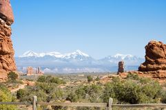 Touring in Arches National Park 12 Stock Image