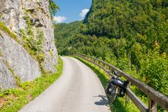 Touring bicycle in Austria. N alps stock photos
