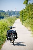 Touring bicycle in Austria. Summer day royalty free stock photos