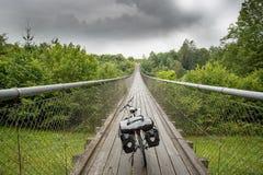 Touring bike on a bridge in Austria Stock Photos