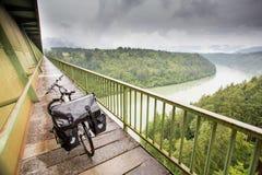 Touring bike on a bridge in Austria Royalty Free Stock Photo