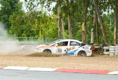 Touring car race in Pattaya, Thailand, June 2012 Royalty Free Stock Photography