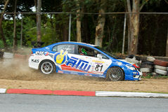 Touring car race in Pattaya, Thailand, June 2012 Royalty Free Stock Photos