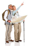 Touring couple sightseeing map Stock Images