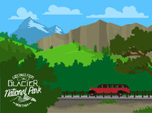 Touring Glacier National Park Royalty Free Stock Image