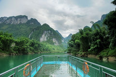 Touring in Hechi small Three Gorges Stock Photo