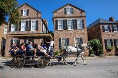 Touring historic Charleston, SC Stock Photos