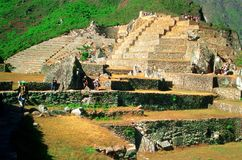 Touring Machu Picchu Royalty Free Stock Photos
