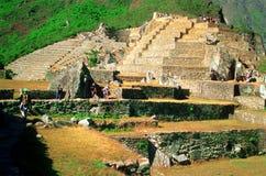 Touring Machu Picchu royalty free stock photos