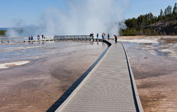 Touring Midway Geyser Basin Royalty Free Stock Images