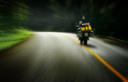 Touring by motorbike on the road Royalty Free Stock Photo
