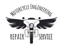 Touring motorcycle emblem Stock Image