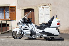 Touring motorcycle Honda Goldwing Royalty Free Stock Photography