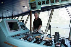 Touring the Navigation Deck Royalty Free Stock Image