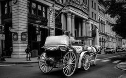 Touring Philadelphia. Horse drawn tourist carriage in downtown Philadelphia Stock Photo