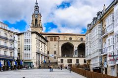 Touring in Vitoria Spain royalty free stock images