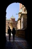 Touring Wawel castle Stock Image