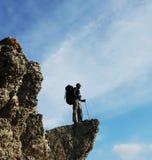 Touris sulla roccia immagini stock libere da diritti