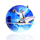 Tourism. Travel on the world with the best airlines Royalty Free Stock Image