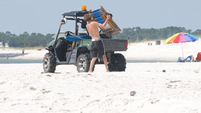 Tourism affected on Gulf Coast Stock Image