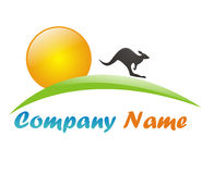 Tourism agency logo. Glossy and nice tourism logo for travel agencies Stock Images