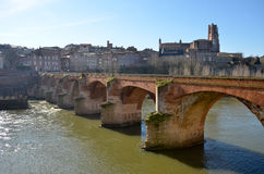 Tourism in Albi. In France Royalty Free Stock Photos