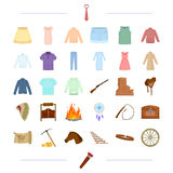Tourism, America, cowboys and other web icon in cartoon style. Tourism, America, cowboys and other  icon in cartoon style.knitwear, accessories, travel,icons in Royalty Free Stock Images