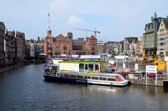 Tourism in Amsterdam Royalty Free Stock Image