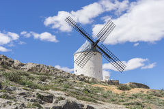 Tourism, Ancient and majestic medieval castle. Town of Consuegra Stock Photography