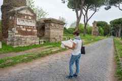 Tourism around Rome old town, Italy Stock Images