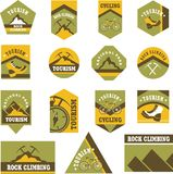 Tourism badges Royalty Free Stock Photos