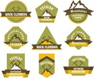 Tourism badges Royalty Free Stock Photography